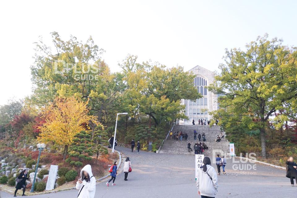 เที่ยวโซล แวะถ่ายรูปที่มหาวิทยาลัยอีฮวา (Ewha Womans University)