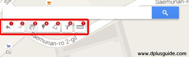 """เขียนเส้นทางการเดินทางด้วยตัวเองบนแผนที่ใน Google Maps ด้วยเครื่องมือ """"ลากเส้น"""" (หมายเลข 5 ค่ะ)"""