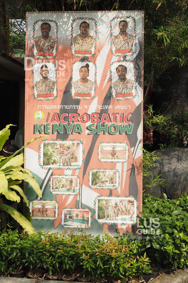 ผู้แสดงการแสดงกายกรรมเคนย่า สวนสัตว์ดุสิต (Dusit Zoo)