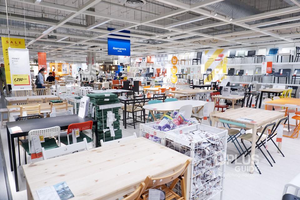 โซนห้องทานอาหาร ที่อีเกีย (IKEA) เมกาบางนา