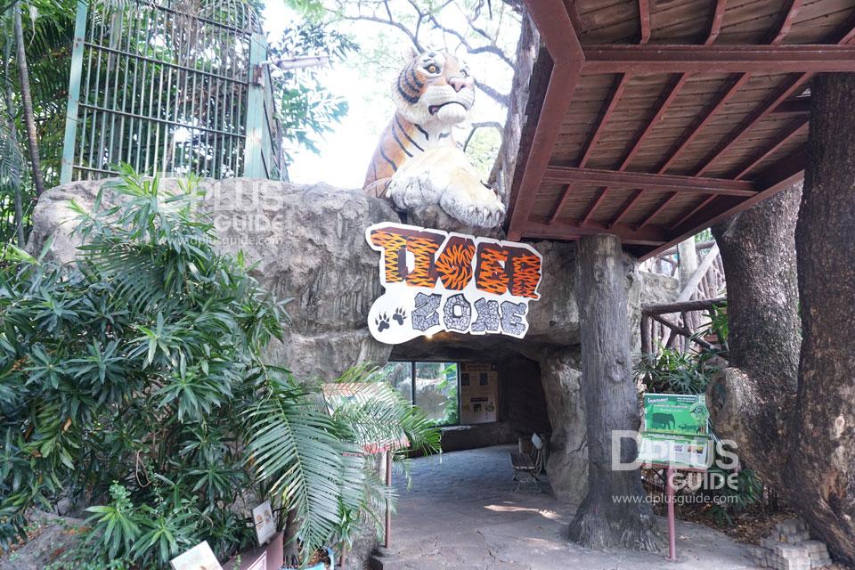 ส่วนจัดแสดงเสือโคร่ง และสิงโต สวนสัตว์ดุสิต (Dusit Zoo)
