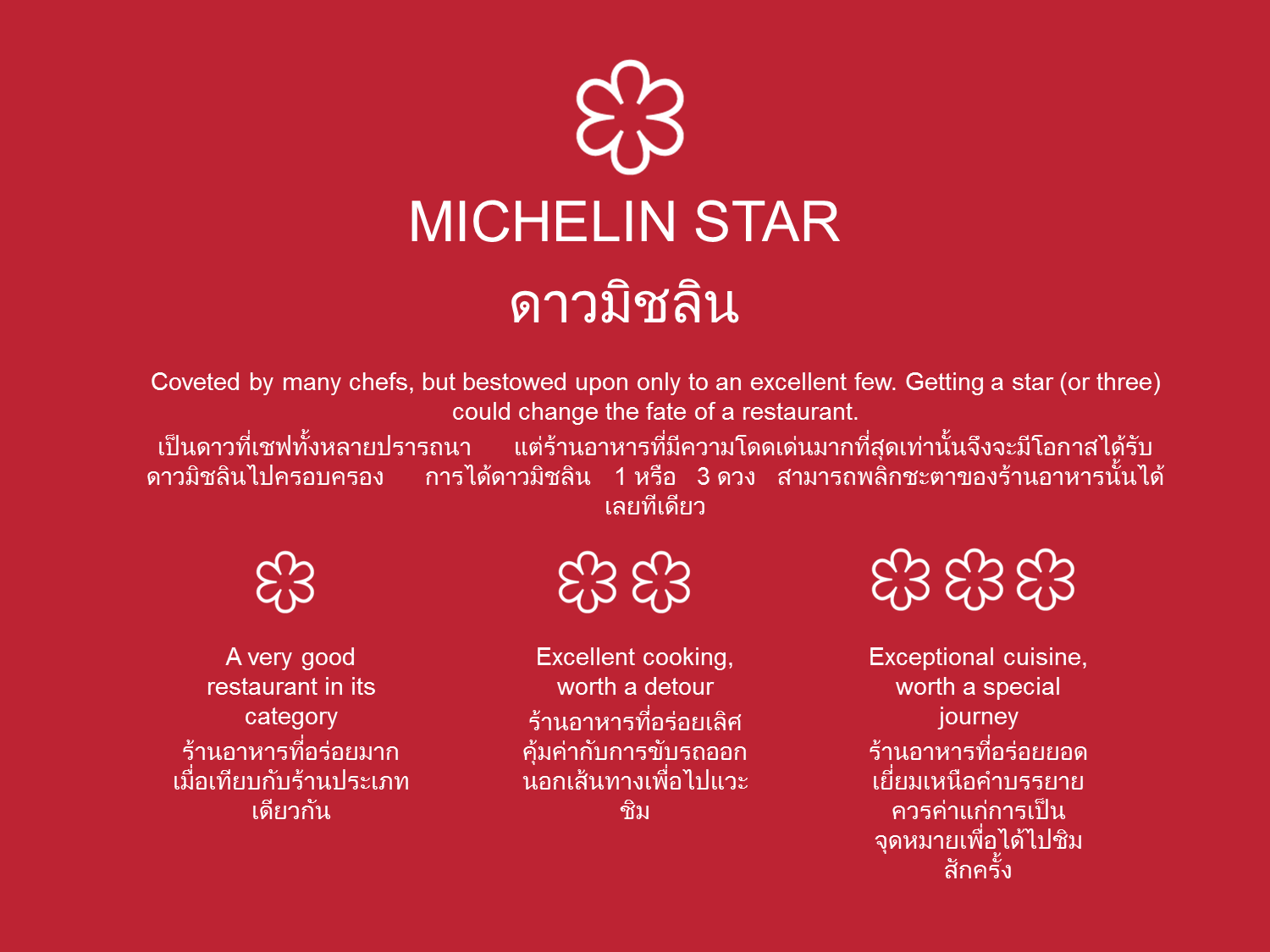 The Michelin Star Rating System