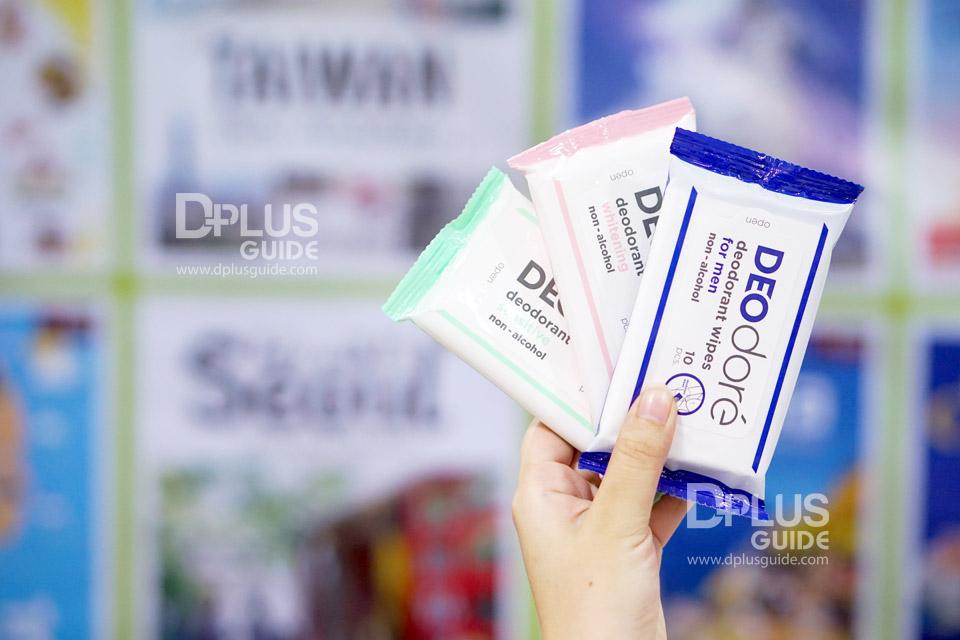 DEOdore' deodorant wipes (เดโอดอเร่ ดีโอเดอแรนท์ ไวพส์)