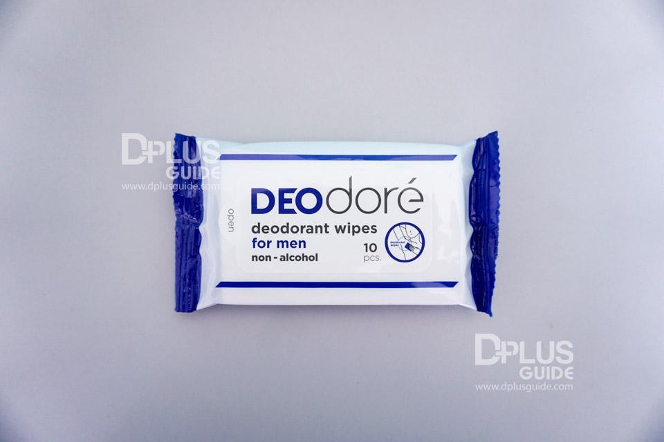 DEOdore' deodorant wipes for men
