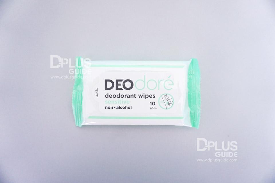 DEOdore' deodorant wipes sensitive