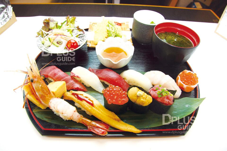 เซตเมนู Sushikan Premium ราคา 2,700 เยน