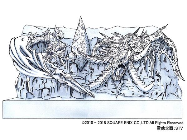 ประติมากรรม The Final Fantasy XIV 'Battle of Winter Wonderland' งานเทศกาลหิมะซัปโปโร