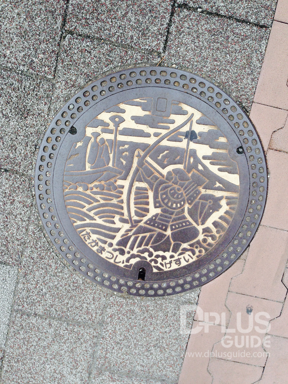 ฝาท่อเมืองทาคามัตสึ เมืองแห่งซามูไร แคว้นซานุกิ