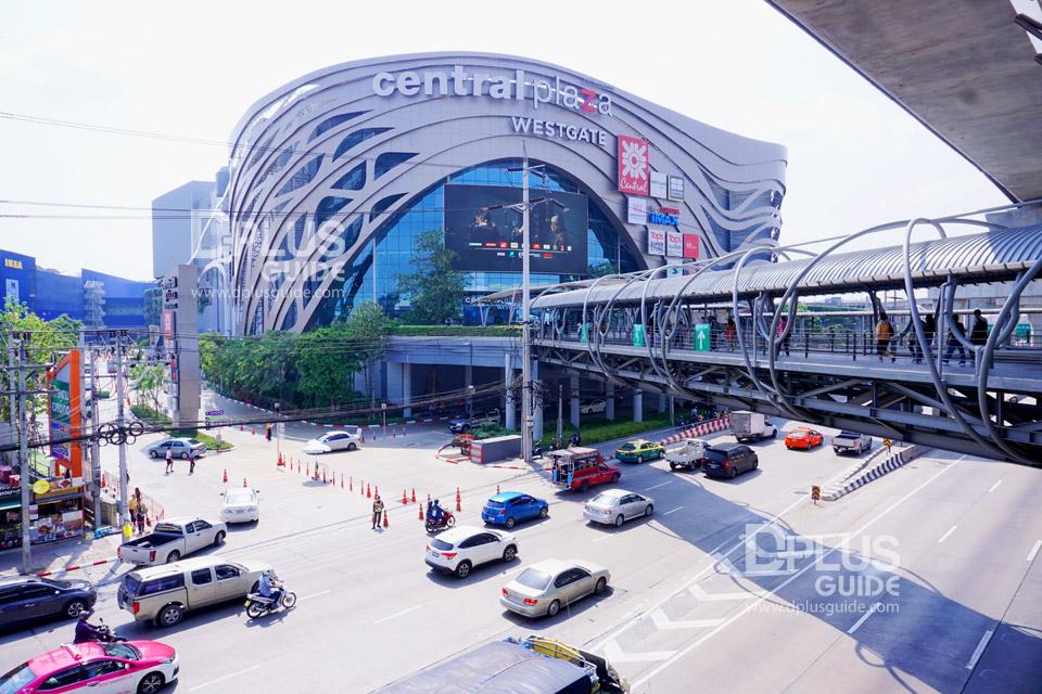 ทางเชื่อมจากรถไฟฟ้า MRT สายสีม่วง สถานีตลาดบางใหญ่ ทางออก 4