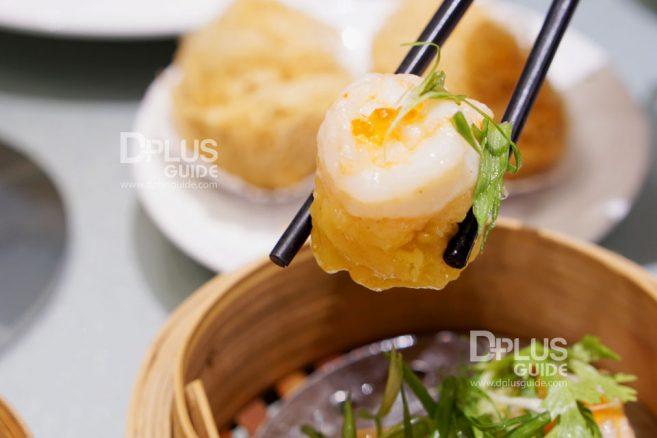 เมนูขนมจีบกุ้งกระจก ห้องอาหารจีนดราก้อนDRAGON Luxury Chinese Cuisine