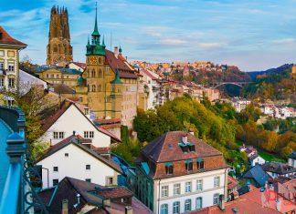 ตัวเมือง Fribourg ส่วนเมืองเก่า