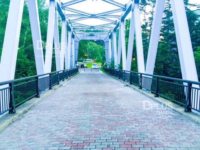 ทางเดินบนสะพาน เหนือน้ำตก