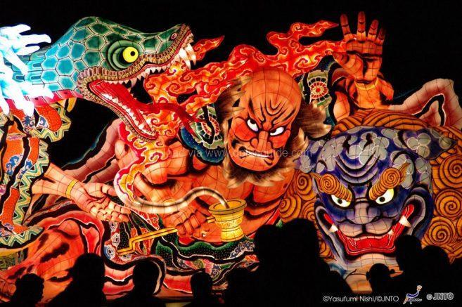 หุ่นโคมไฟรูปนักรบ และปีศาจ ในตำนานของญี่ปุ่น