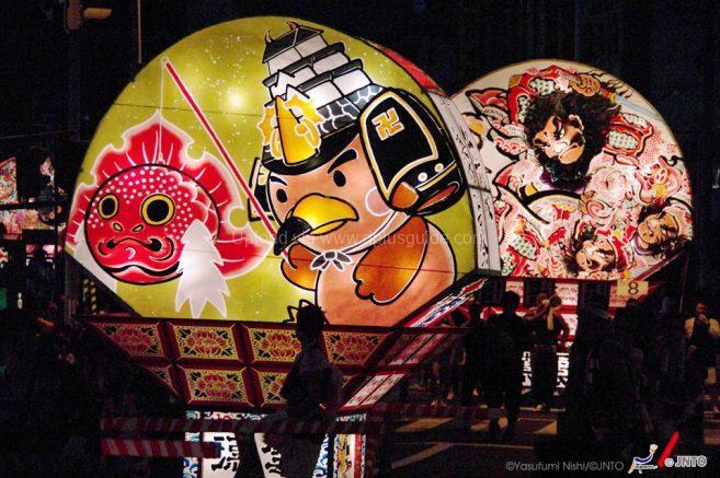 หุ่นโคมไฟของเมืองฮิโรซากิค่ะ