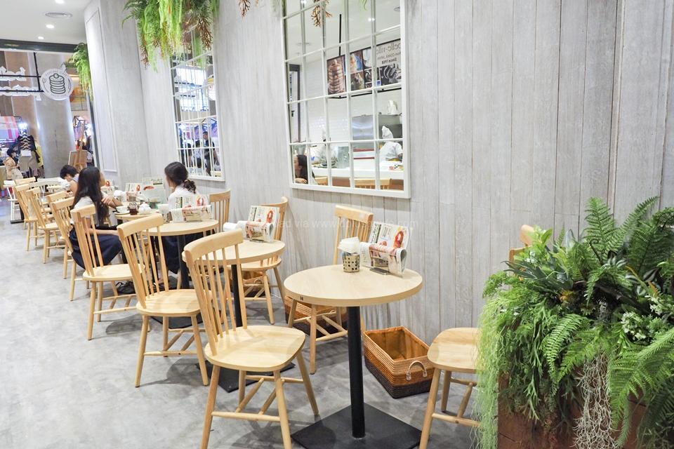 บรรยากาศในร้าน belle-ville pancake cafe