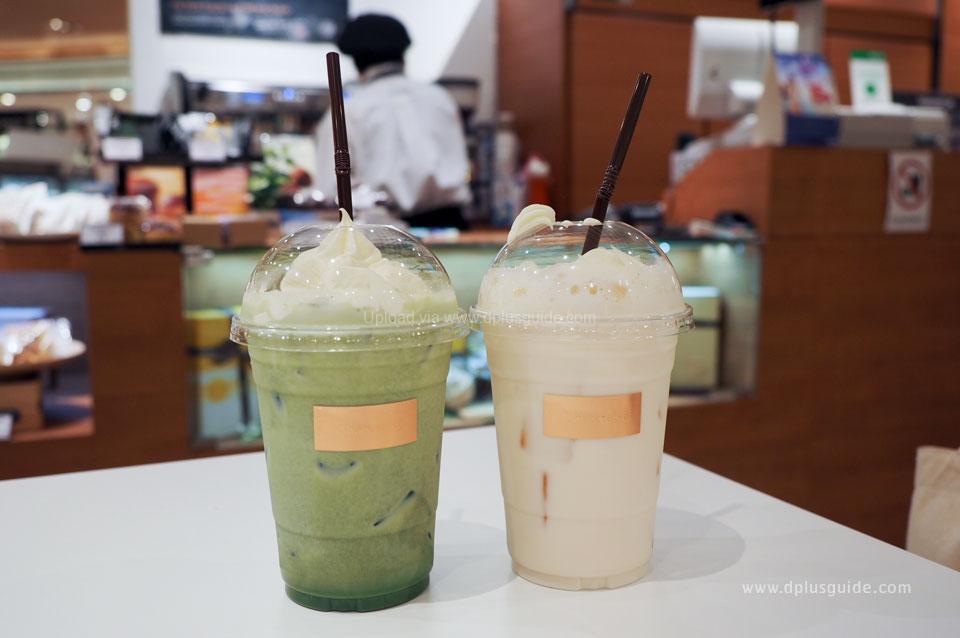 Matcha Latte Ice และHokkaido Melon au Lait Ice